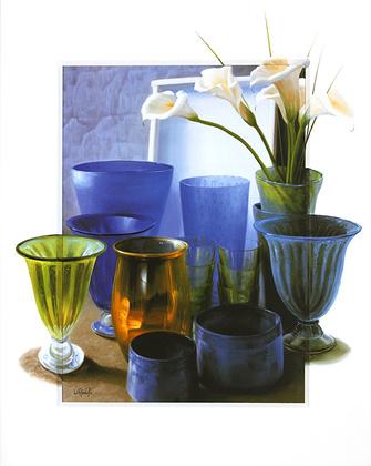 Wouter Roelofs Stilleben mit Calla und Vasen