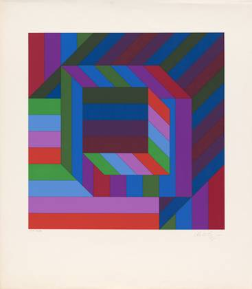 Victor Vasarely Motiv V (17 20)