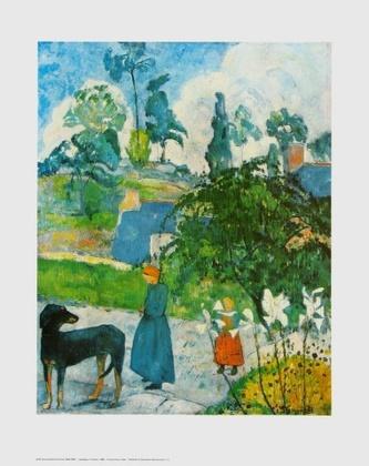 Paul Gauguin Landschaft in der Bretagne