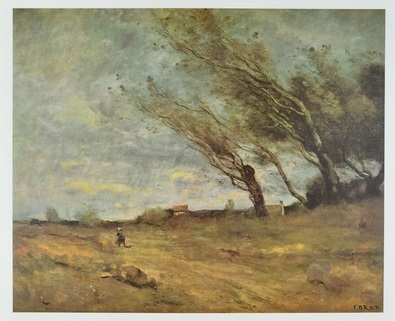 Jean Baptiste Corot Der Windstoss