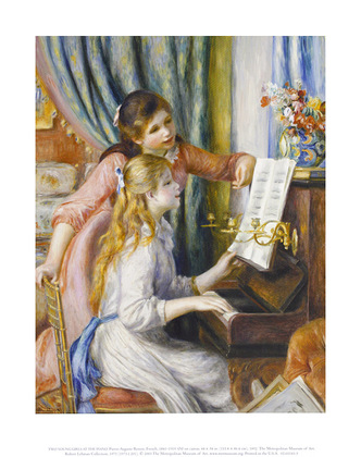 Pierre Auguste Renoir Two Young Girls at the Piano