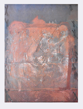Antoni Tapies Relief in Ziegelfarbe