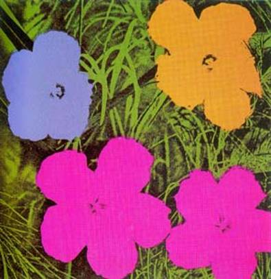 andy warhol blumen flowers yellow gross poster. Black Bedroom Furniture Sets. Home Design Ideas