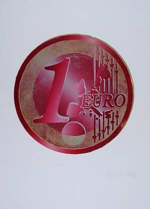 Richard Keith Wolff Ein Euro (Rot)