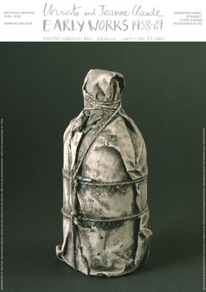 Christo Wrapped Bottle (1958)