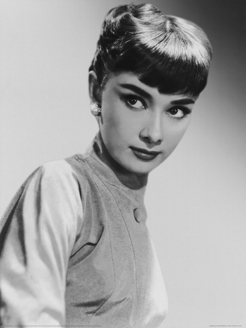 hero audrey hepburn portrait poster kunstdruck bei. Black Bedroom Furniture Sets. Home Design Ideas