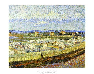 Vincent van Gogh Peach Blossom in the Crau, 1889