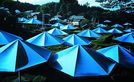Christo and jeanne claude umbrellas blau nr  12  1991  handsigniert medium