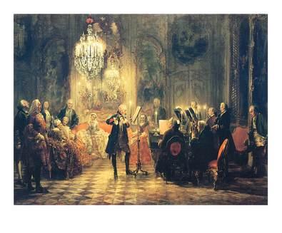 Adolph von Menzel Das Floetenkonzert