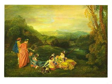 Jean-Antoine Watteau Liebe auf dem Lande
