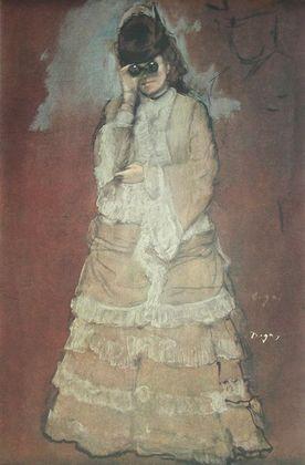 Edgar Degas Dame mit Opernglas