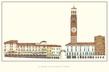 Verona La Piazza delle Erbe di Verona