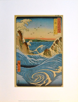 Utagawa Hiroshige Awe Province Navaro Rapids