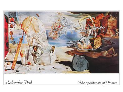 Salvador Dali The apotheosis of Homer (Schrift)