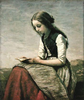 Jean Baptiste Camille Corot Die kleine Lesende