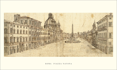 Carlo Fontana Rom, Piazza Navona, ca. 1680