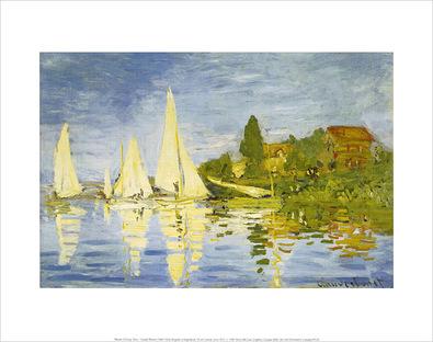 Claude Monet Regatta at Argenteuil, 1872