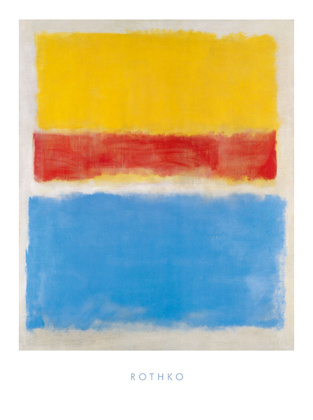 Mark Rothko Untitled Yellow-Red and Blue