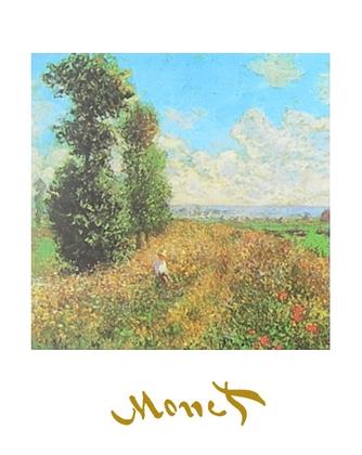 Claude Monet Feld mit Mohn