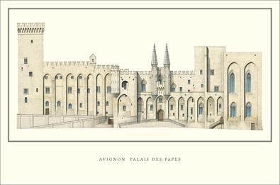 unbekannter Kuenstler Avignon, Palais des Papes