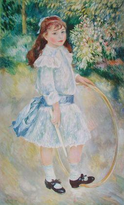 Pierre Auguste Renoir Maedchen mit Reifen