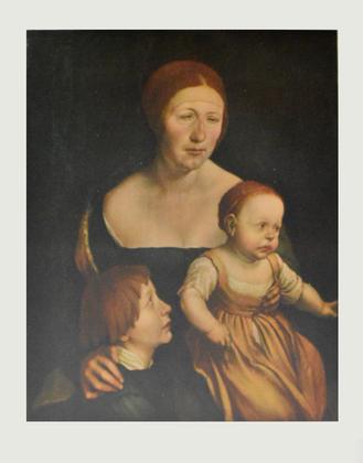 Hans Holbein H. Holbeins Ehefrau mit zwei Kindern