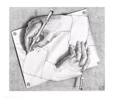 MC Escher Zeichnen