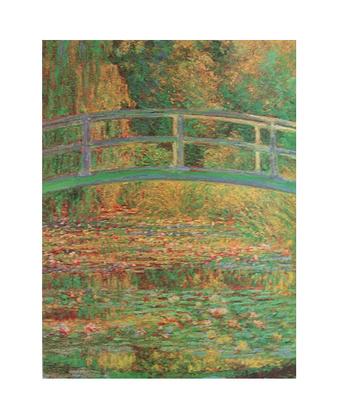 Claude Monet Seerosenteich mit Bruecke