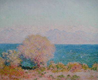 Claude Monet Kuestenlandschaft bei Antibes