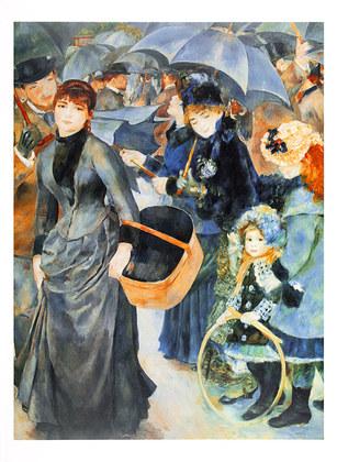 Pierre Auguste Renoir Regen- / Sonnenschirme
