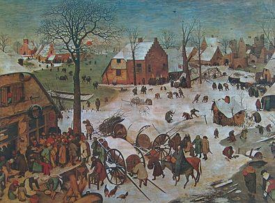 Pieter Brueghel Die Volks Zaehlung zu Betlehem  1566