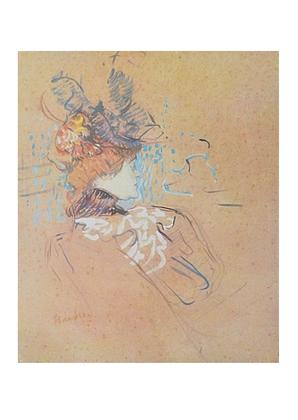 Henri Toulouse-Lautrec Profil einer Frau