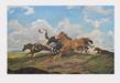 Alfred Roloff Galoppierende Pferde