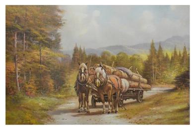 C. Pila-Montes Holzfuhrwerk