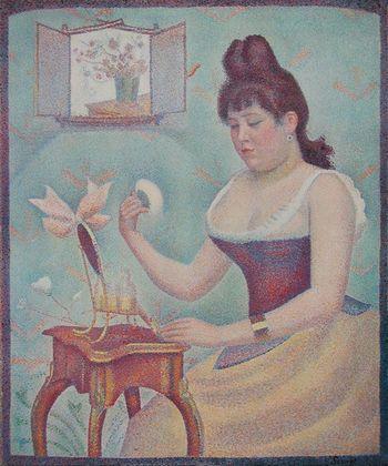 Georges Seurat Junge Frau bei der Toilette