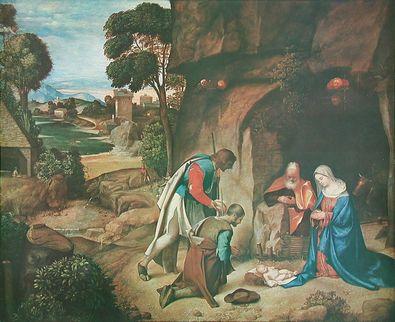 Giorgio Giorgione Die Anbetung der Hirten