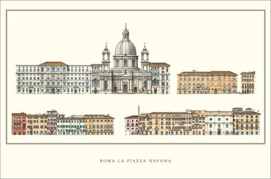 Unbekannter kuenstler rom la piazza navona large