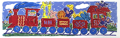 Sally Huss Animal Train