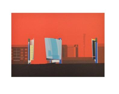 zaha hadid buerohaus am kurfuerstendamm 70 in berlin 1986 poster kunstdruck bei. Black Bedroom Furniture Sets. Home Design Ideas