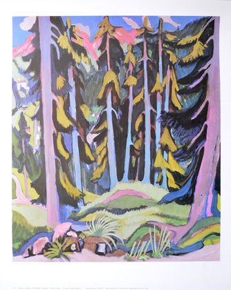 Ernst Ludwig Kirchner Forest with brook