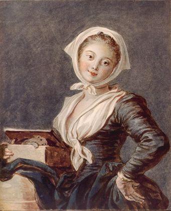 Jean-Honore Fragonard Maedchen mit Murmeltier