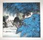 Gu jian liang china steinbruecke und blaue blumen medium