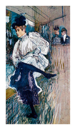 Henri Toulouse-Lautrec Jane Avril Dancing