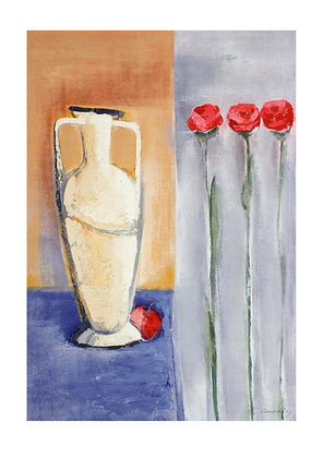 Francoise Conzales 2er Set 'Three Roses in a Row' + 'Three Tulips in a Row'