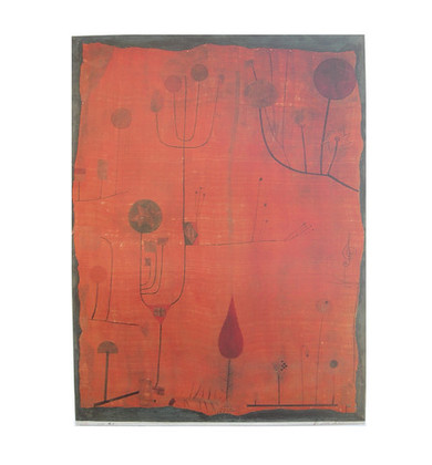Paul Klee Fruechte auf rot