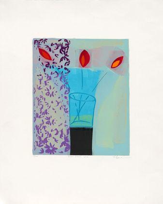 Russel Baker Blue Glass Vase (2001)