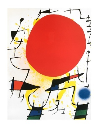 Joan Miro Le soleil rouge