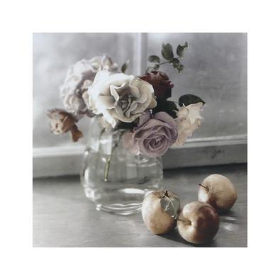 Sondra Wampler 3er Set 'Roses & Apples' + 'Tulips & Fruit' + 'Purple Flowers & Pears'