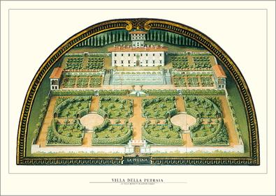 Giusto Utens Florenz, Villa della Petraia
