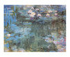 Monet claude white purple waterlilies medium